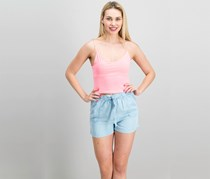 Cropp Women's Thin Shoulder Strap Top, Coral Pink