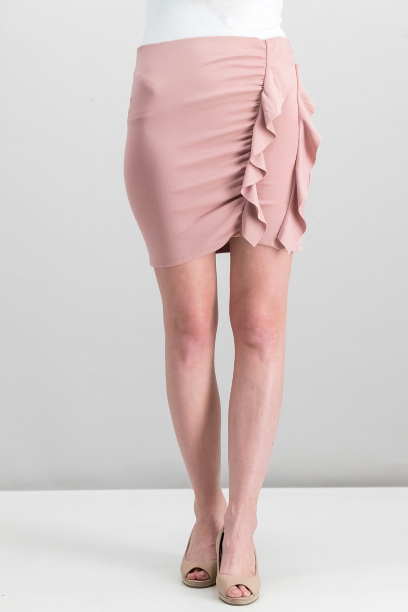 Women's Ruffle Skirt, Blush