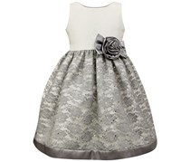 Jayne Copeland Glitter Lace Special Occasion Dress, Gray/White