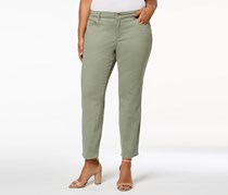 Plus Size Bristol Tummy-Control Ankle Jeans, Sage Green
