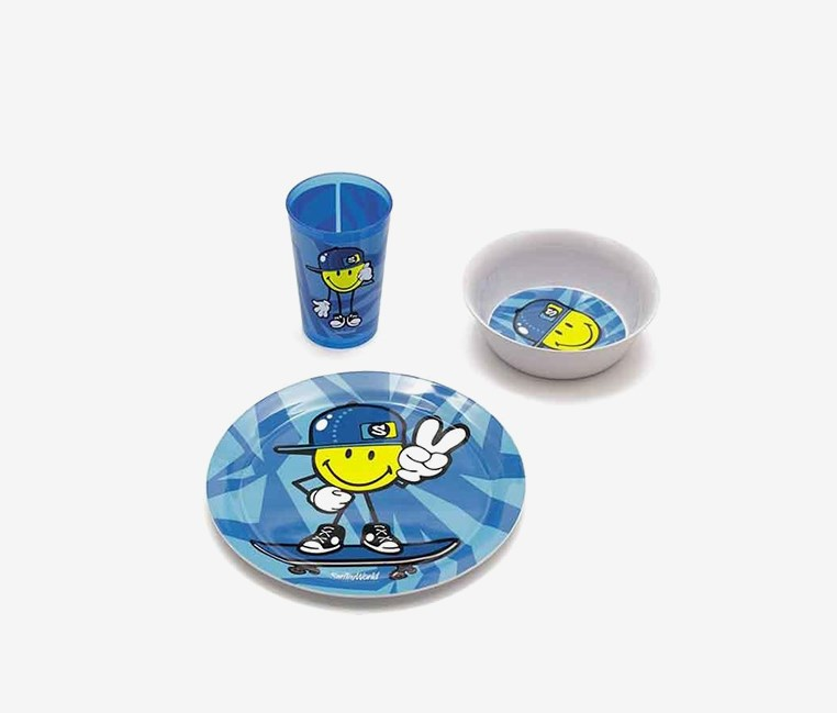 Smiley Junior Girl 3-Pc Set in a Gift Box, Blue