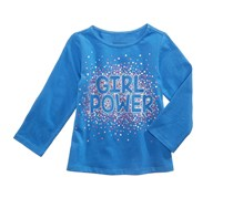 First Impression Little Girl's Long-Sleeve Cotton T-Shirt, Blue