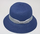 Women's Stripe Braid Hat, Navy
