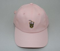 Women's Juice Embroidered Cap, Pink