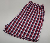 Men's Plaid Boxer, Red