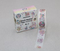 Washi Masking Tape-Cute Animals, Pink