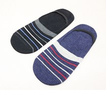 Men's 2 Packs No Show Socks, Black/Navy