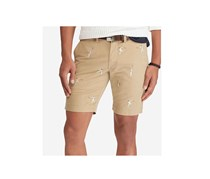 Ralph Lauren Men's Stretch Slim Fit Embroidered Chino Shorts, Luxury Tan