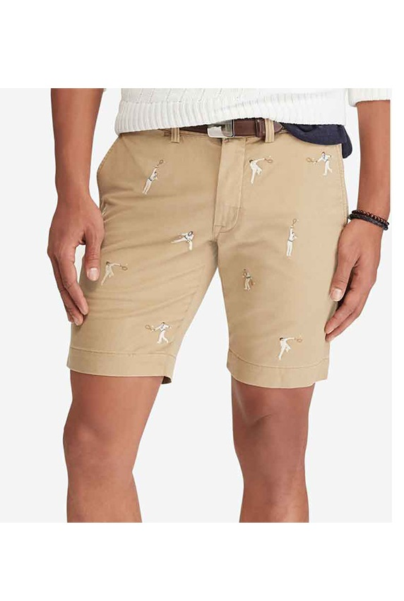 f27af64f4 Ralph Lauren Men s Stretch Slim Fit Embroidered Chino Shorts