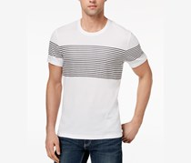 International Concepts Men's Introspection Striped, White Pure