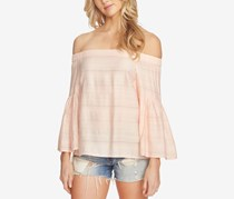 1.STATE Women's Off-The-Shoulder Bell-Sleeve Top, Dawn Blush