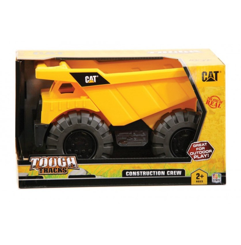 CAT Tough Tracks Construction Dump Truck, Yellow