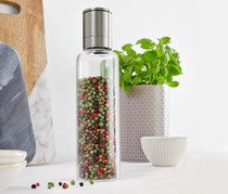 Salt or Pepper Mill, Silver/Transparent
