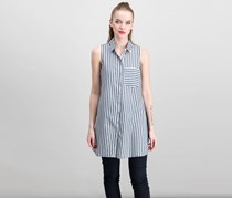 Jak & Rae Women's Stripe Tunic, Navy/White