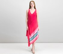 Rachel Roy Printed Asymmetrical Dress, Azalea Ombre Combo