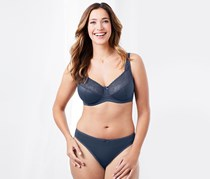 Women Underwired Bra Lace, Navy Blue