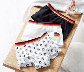 Girl's 3 Pairs Of Shorts, White/Black/Red/Yellow