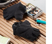 Men Cycling Gloves, Black