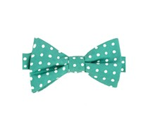 Tommy Hilfiger Mens Printed Dot To-Tie Silk, Green