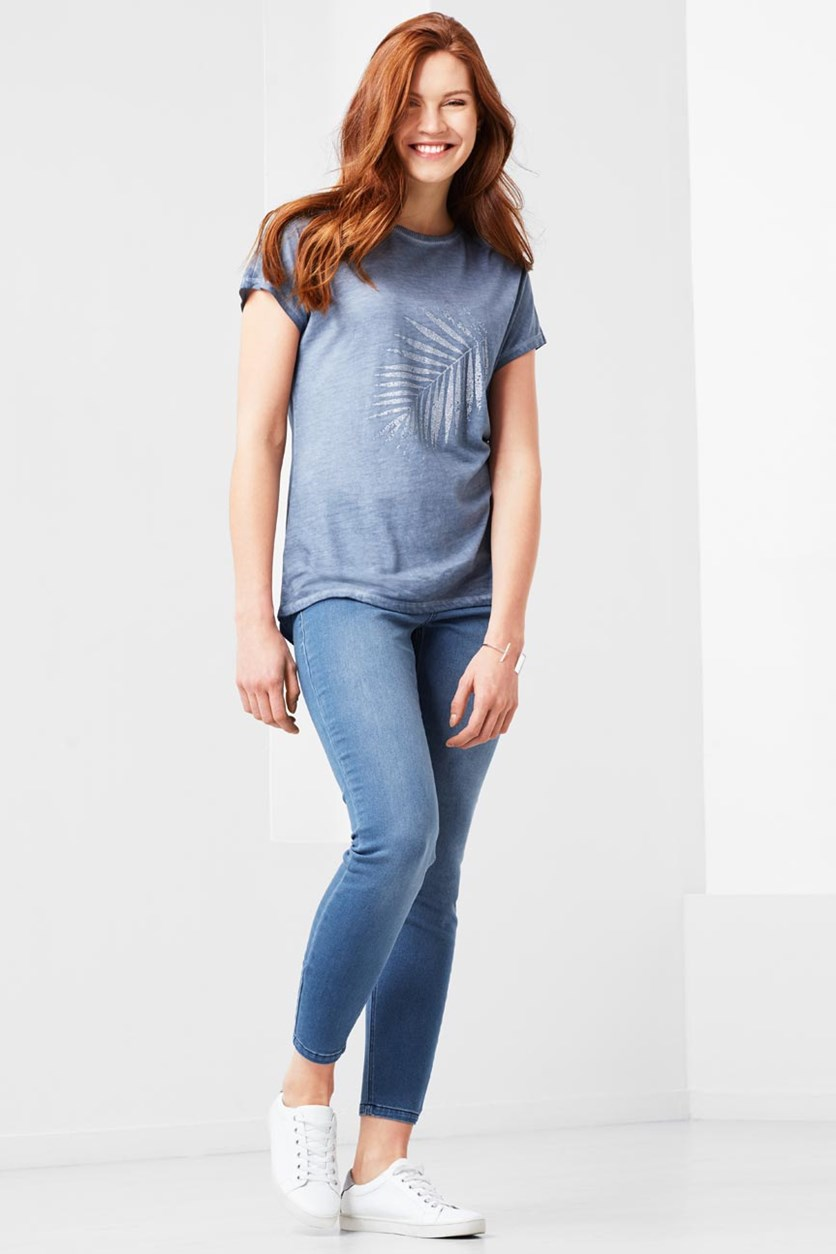 Women's Jeggings, Light Blue Denim