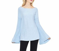 Vince Camuto Ribbed Bell-Sleeve Sweater, Blue