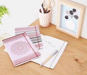 Notebook Set Of 3, Pink Combo