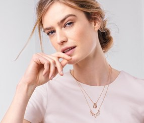 Women's Double Layer Necklace, Gold