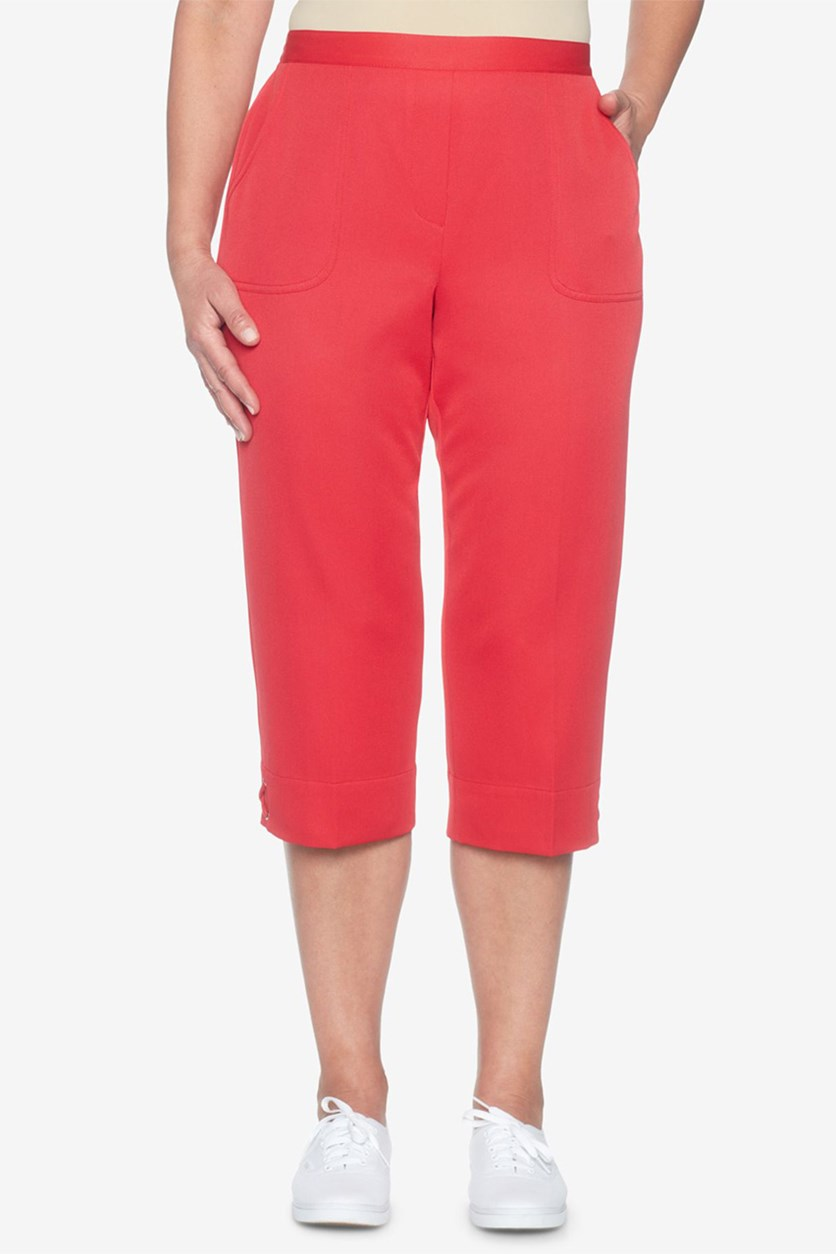 Americas Cup Laced-Hem Pants, Red