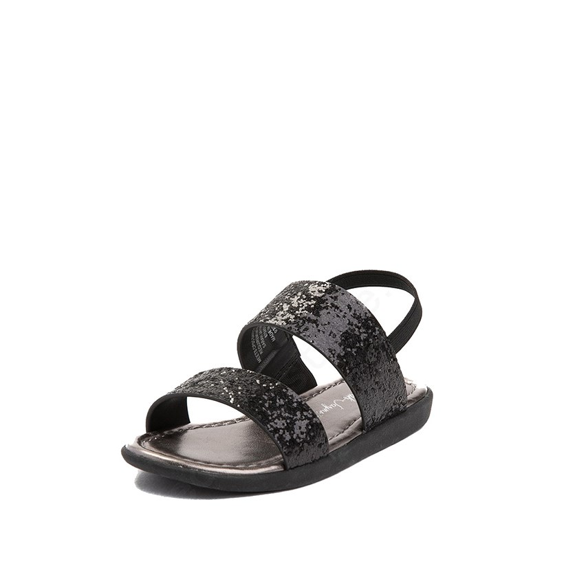 Girls Ruth Sandals, Black/Gray