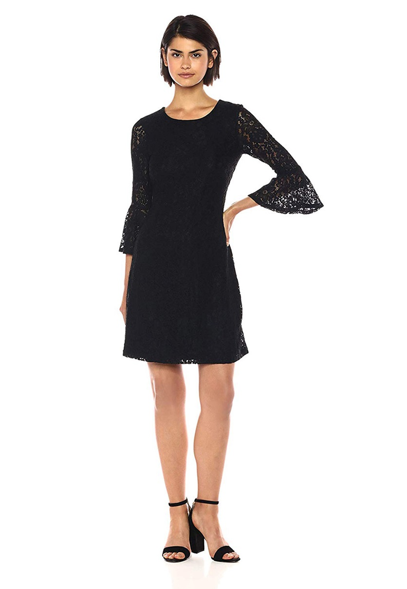 bb1ed6fb95a Shop Tommy Hilfiger Tommy Hilfiger Women's Stretch Lace Bell Sleeve ...