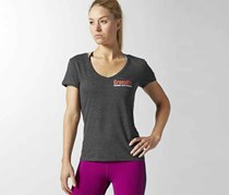 Reebok Women's Cross Fit Graphic Shirt, Black