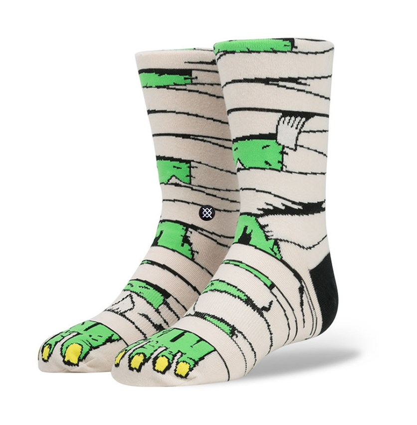 Stance Boys Toomb Socks, Offwhite/Black/Green
