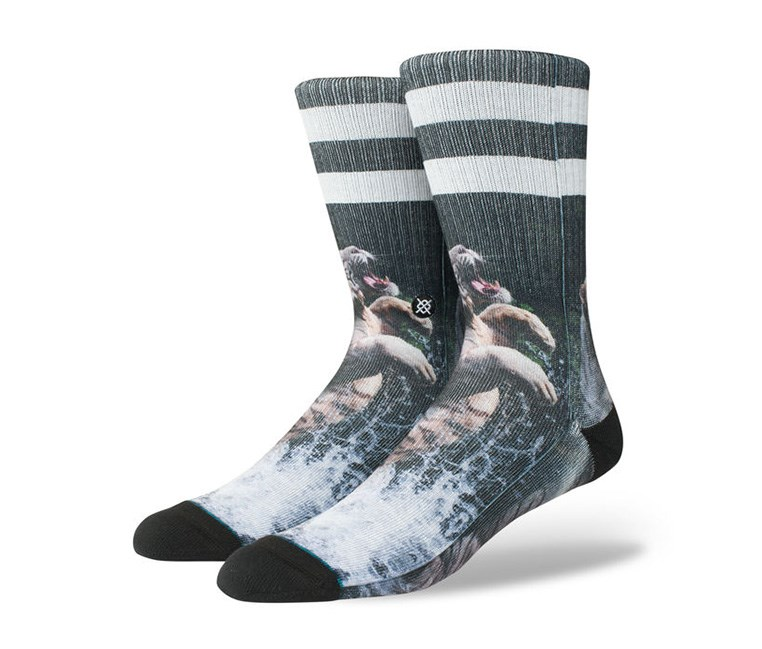 Boys Khan Socks, Black/White