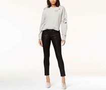 Joe's Icon Ankle Coated Skinny Jeans, Black