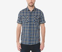 Buffalo David Bitton Mens Sijoul-X Plaid Shirt, Blue Combo