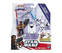 Hasbro Star Wars Galactic Heroes Finn & First Order Stormtrooper Mini Figure 2-Pack, White/Brown