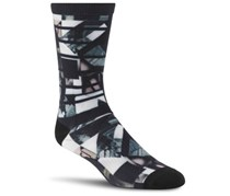 Reebok Unisex Crew Socks, Grey/Black