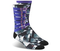 Reebok Unisex Crew Socks, Purple/Grey