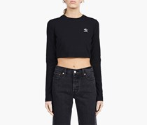 Adidas Women's Styling Complements Crop Tee, Black