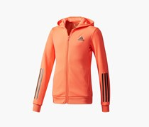 Adidas Training Full Zip Hoodie, Coral/Black