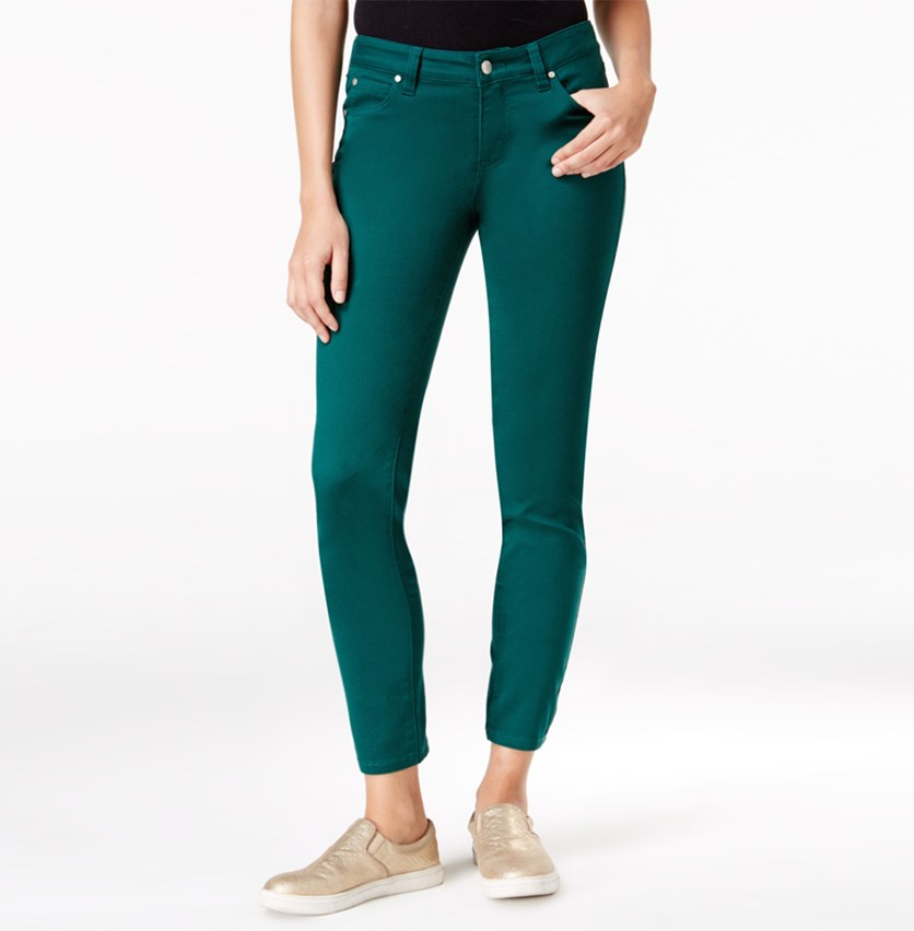 Juniors Colored Skinny Pants, Botanical Green