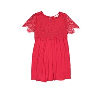 Copper Key Girl's Lace Dress, Red