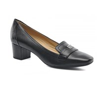 GEOX Respira  Brianna Women Leather Loafers, Black