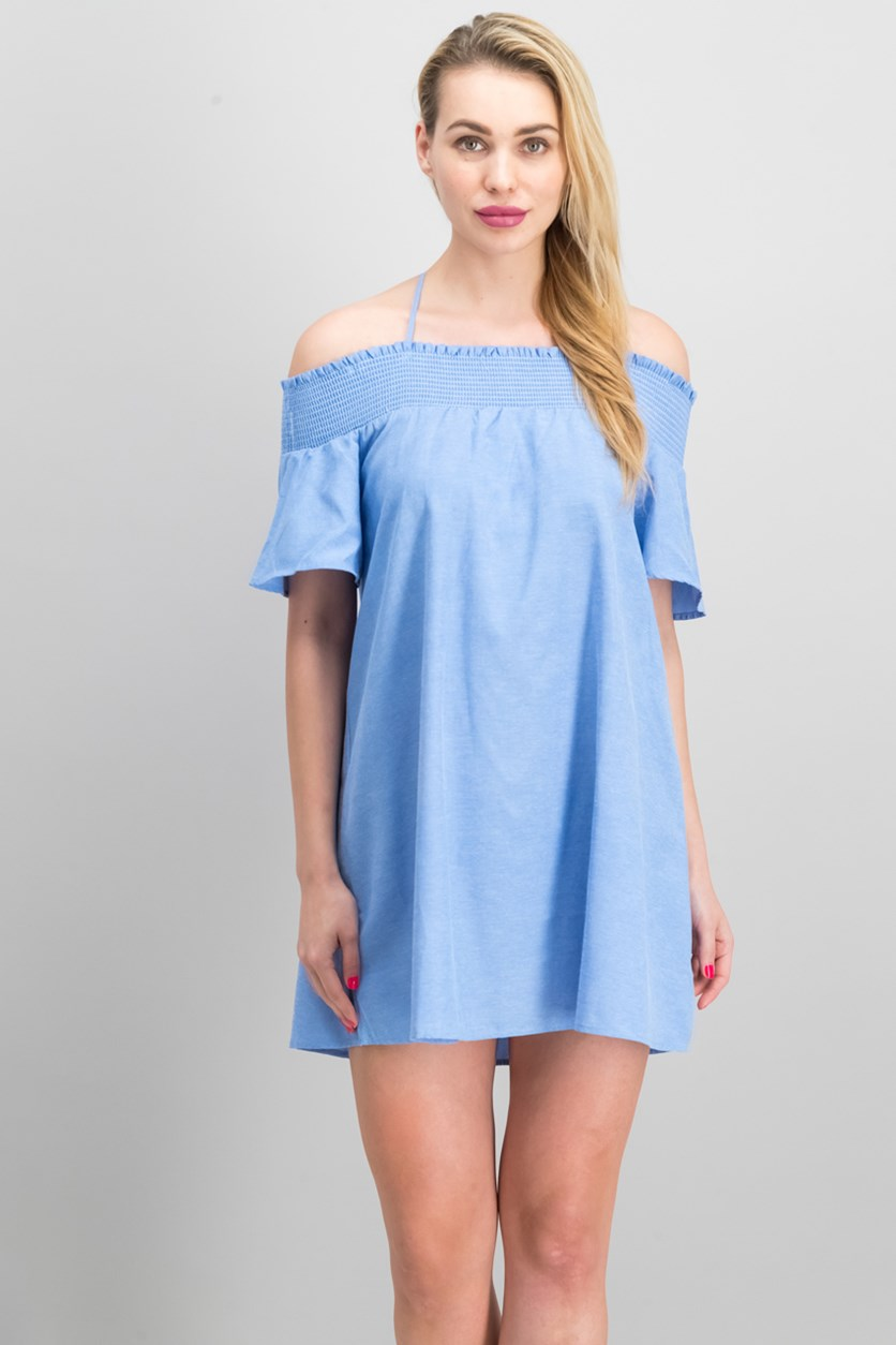 Women's Off Shoulder Dress, Blue