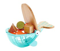 Wooden Toys Hungry Humpback Shape Sorter, Teal/Natural
