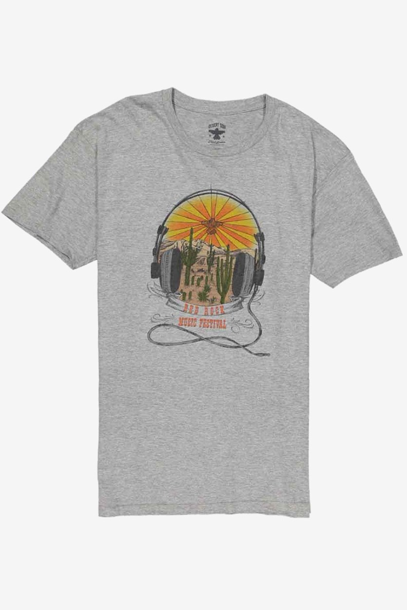 Men's Short Sleeve Graphic Tee, Grey Heather