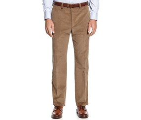 Ralph Lauren Men's Classic-Fit Flat-Front Pant, Tan