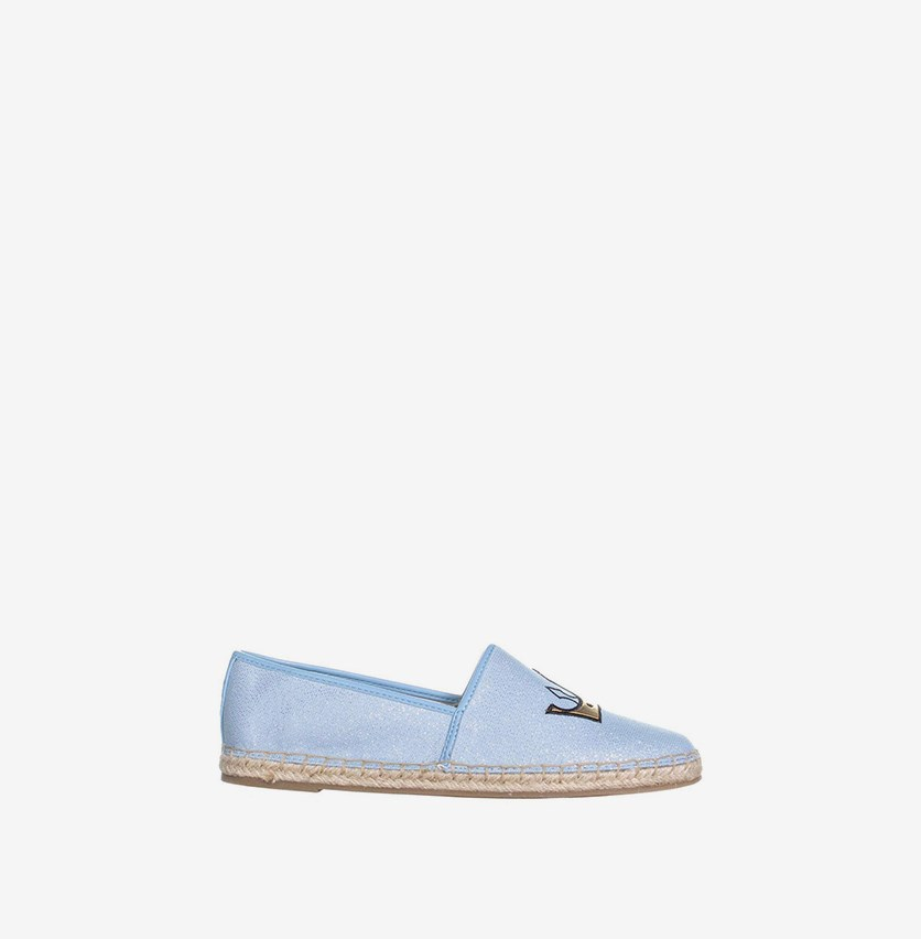 Leni Flats, Light Blue Metallic