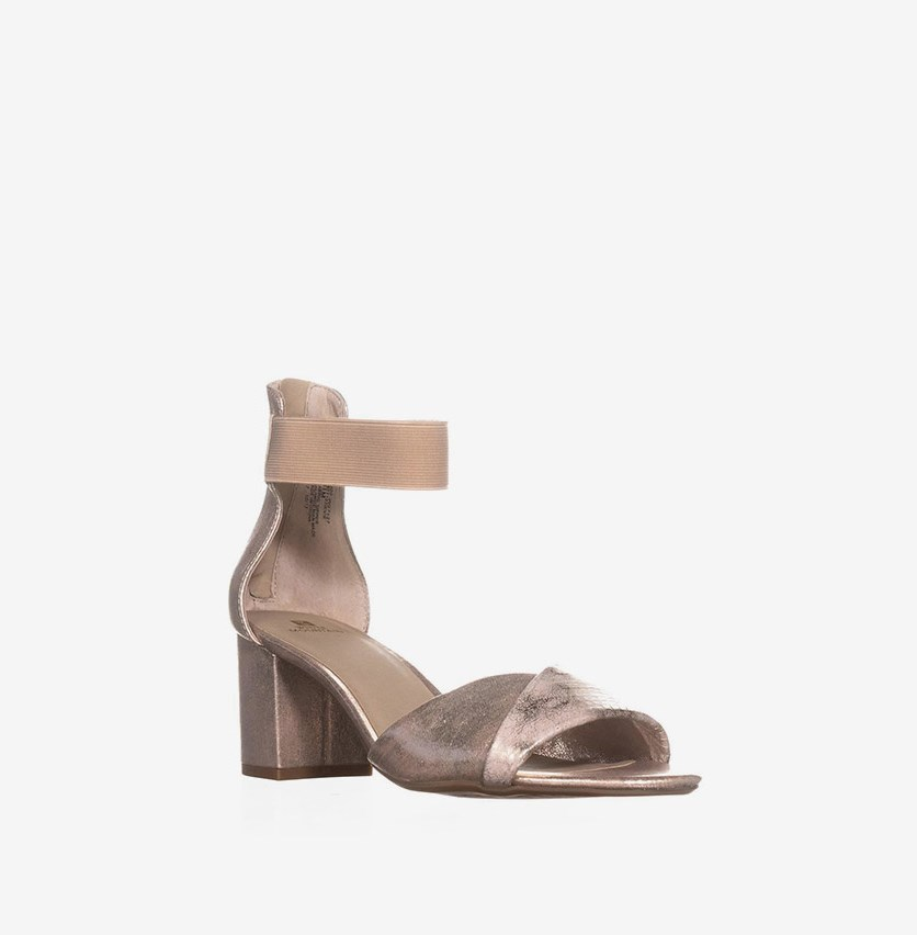 Evie Dress Sandals, Platinum Rose