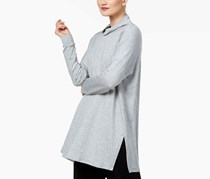 Eileen Fisher Turtleneck Tunic Sweater, Heather Gray